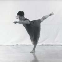 Rosé - ein Tanzgedicht: Solo-Choreographie und Tanz Ursula Schebrak-Carcich 1997 (Foto: Peter Hotzy)